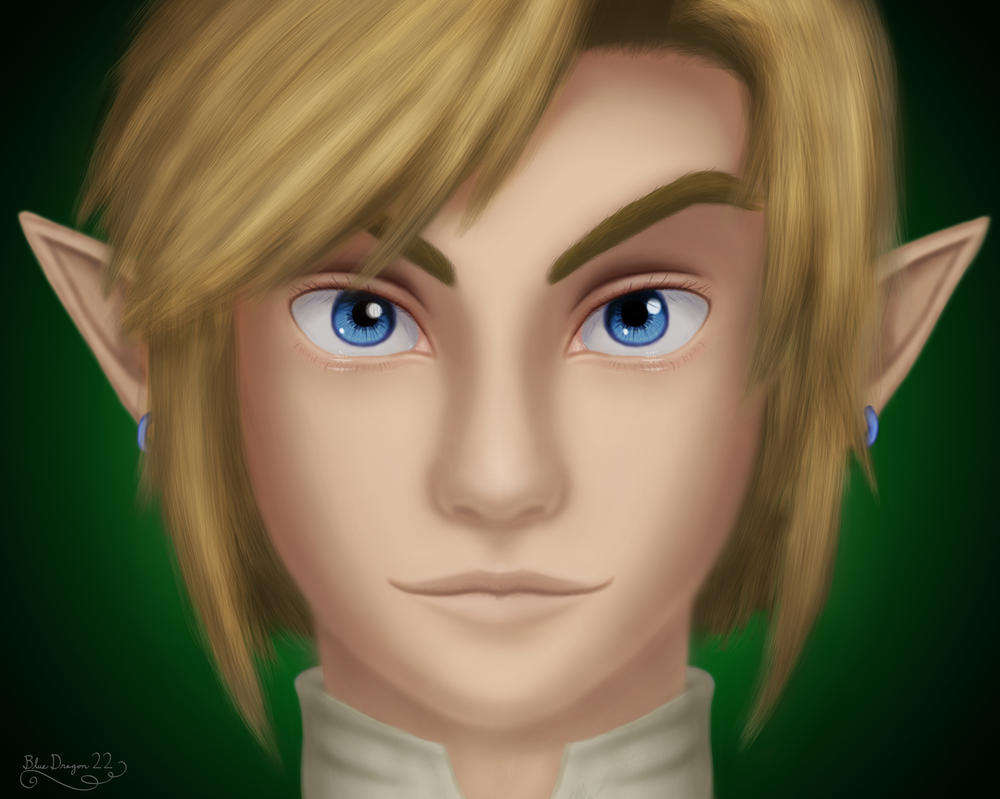 Link Portrait - REDRAW by Blue-Dragon-22