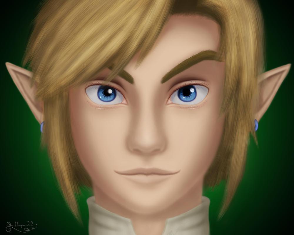 Link Portrait - REDRAW by AzuraDragoness