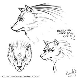 Wolf Link Sketches - Daily Doodle #29