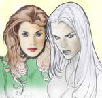 Jean Grey and the Emma Frost