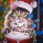 Cat Cocoa Xmas