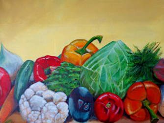 study in vegetarianism number #2 by Tony-Lewis-artwork