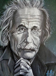 PRAYING EINSTEIN by Tony-Lewis-artwork