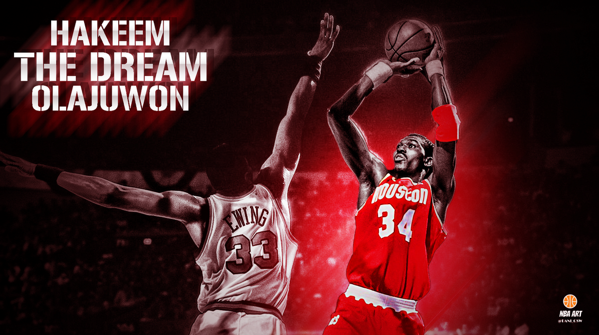 Hakeem Olajuwon by NBAART on DeviantArt