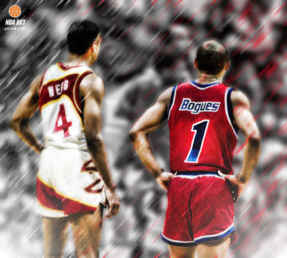 Spud Webb Muggsy Bogues by NBAART on DeviantArt