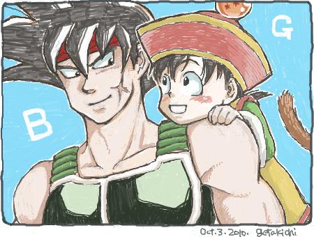Bardock and Gohan by getakichi