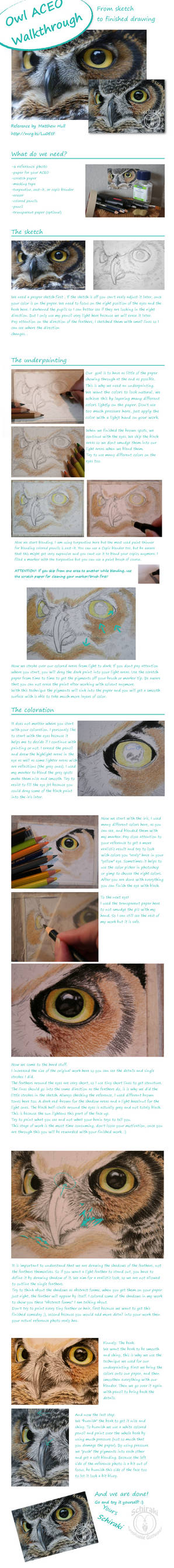 coloring tutorial (colored pencil and solvents)