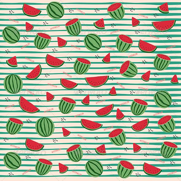 Fresh Watermelon Pattern By Ma Lika