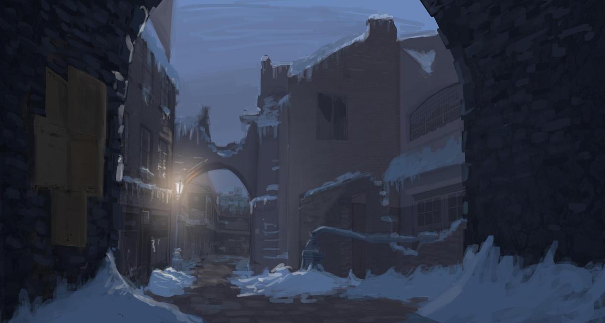 Street Winter by Geausselain