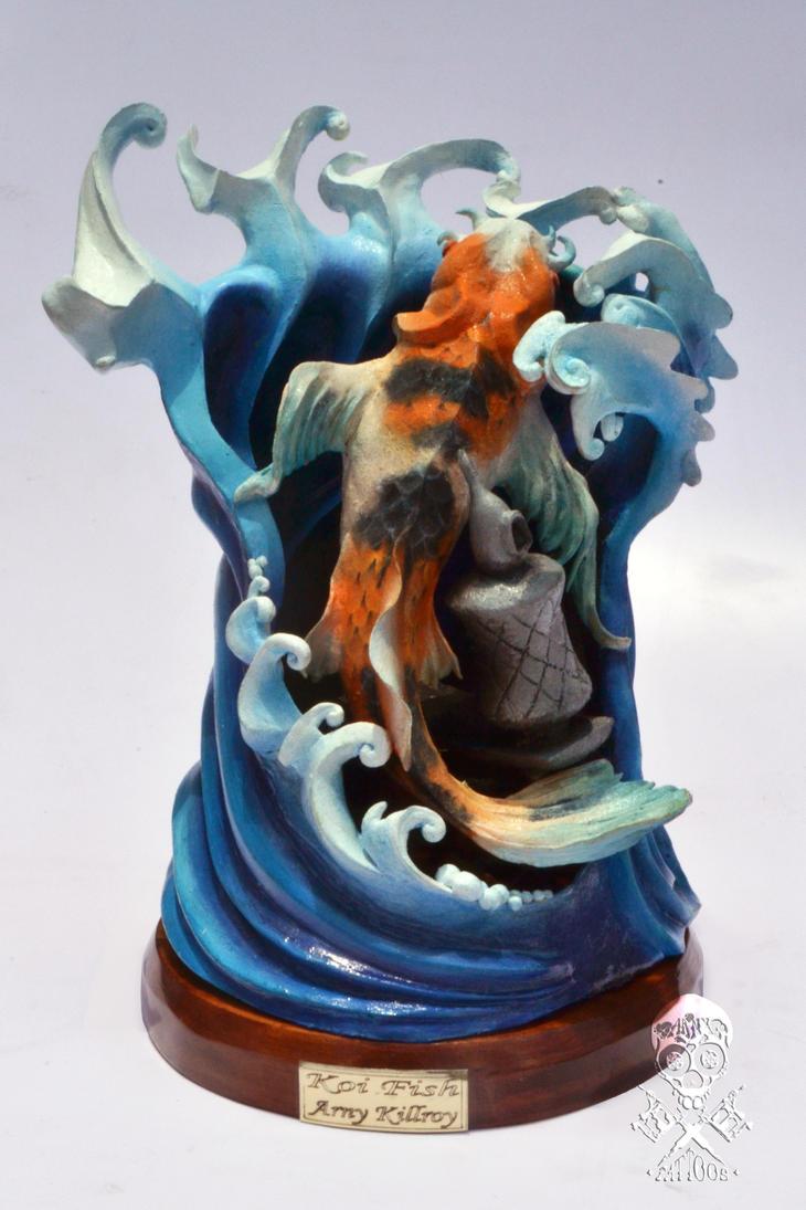 Koi fish tattoo sculpture by arnykillroy on deviantart for Koi fish statue