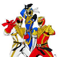 Street Fightin' Power Rangers by SkrubPhace