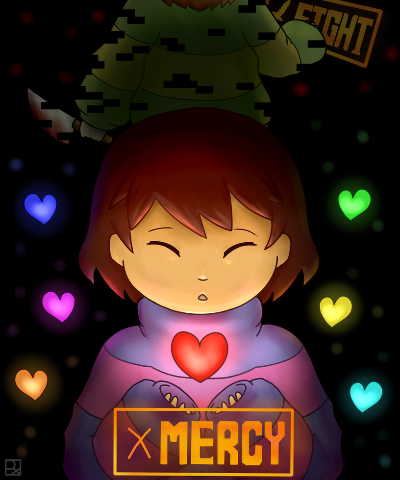 Frisk y Chara by rooxx13