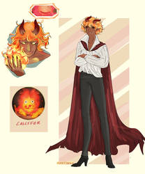 Calcifer Humanized  - Howls Moving Castle by HiroDraga