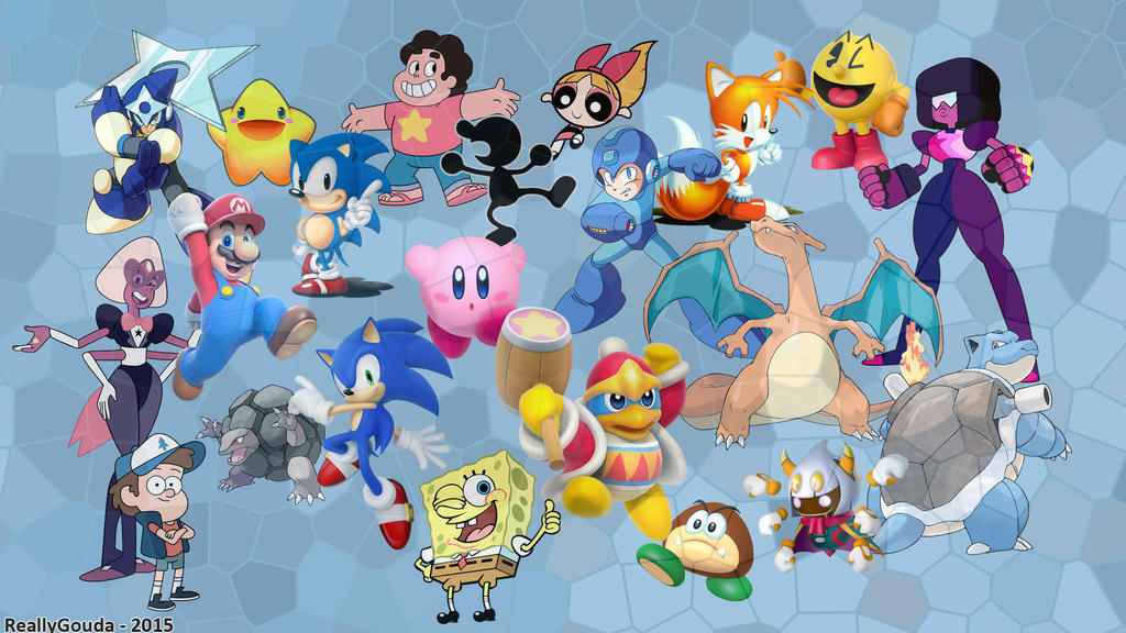 Video Game And Animated TV Characters Wallpaper By ReallyGouda