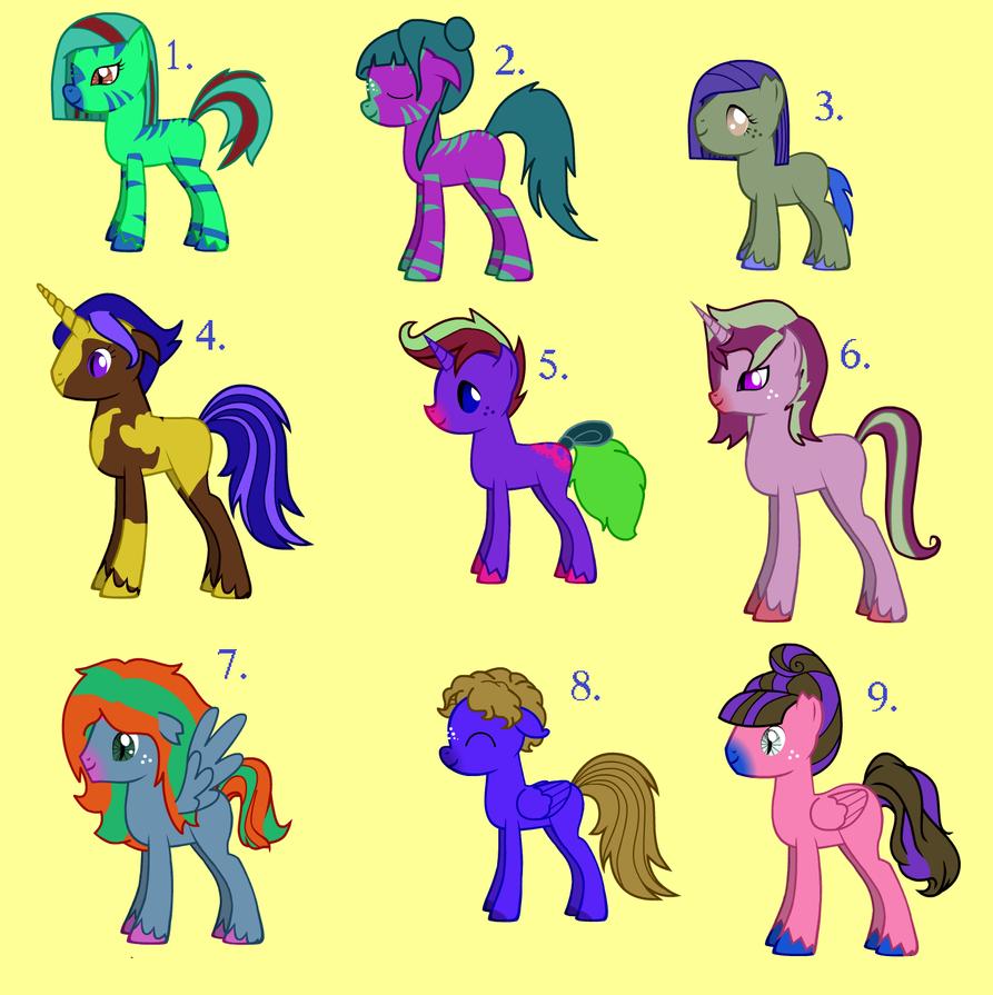 adoption free pony creator ponies closed by the nerdy jellybean