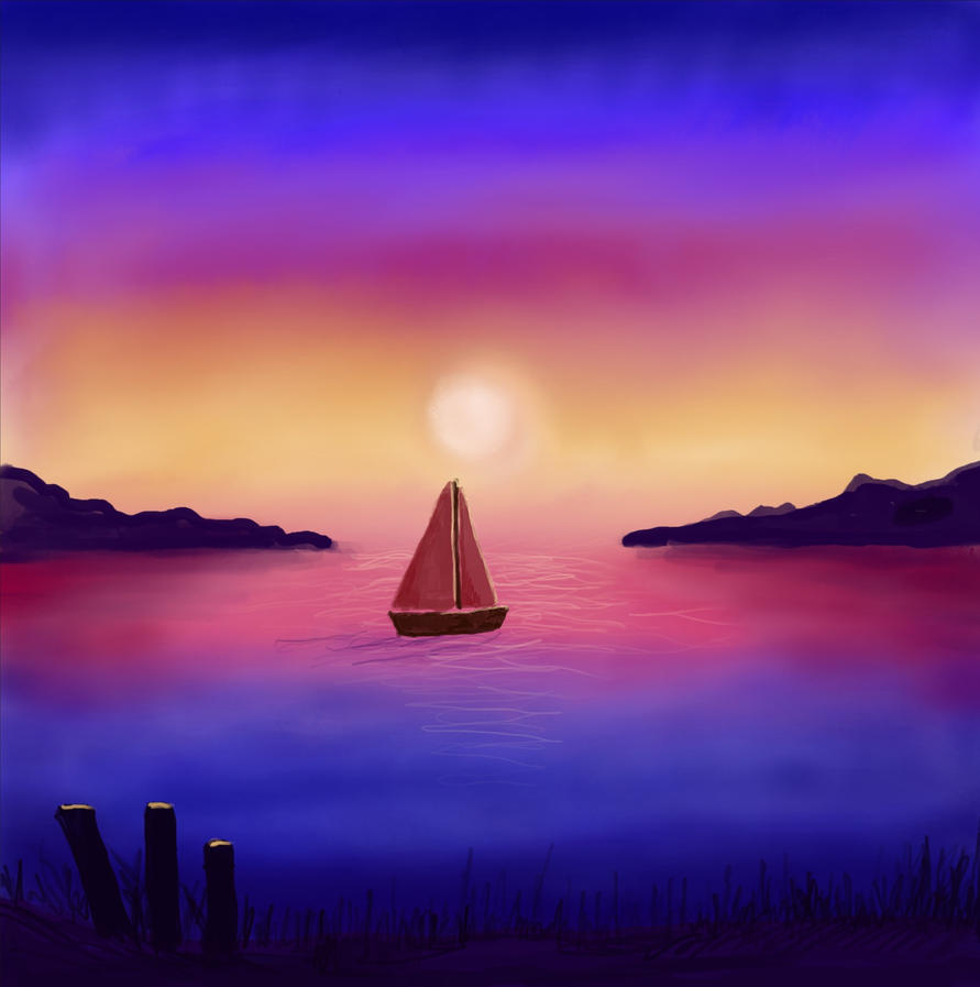 Sunset Sail by MagicAlly25