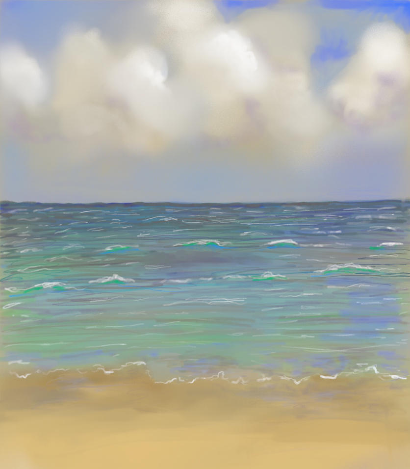 Cloudy Sea  by MagicAlly25