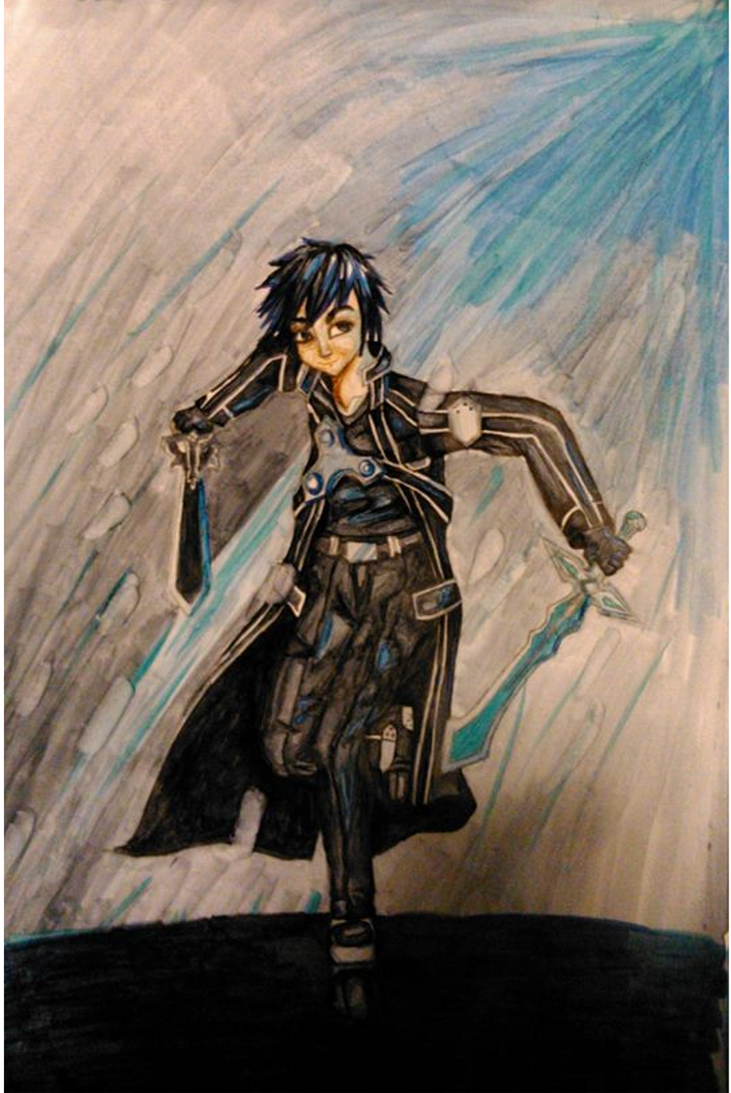 The Black Swordsman by random-drawer-person