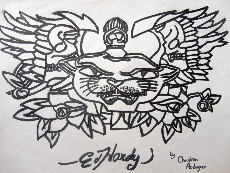 ed hardy tattoo design by deathawaits307 on deviantart. Black Bedroom Furniture Sets. Home Design Ideas