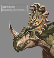 JW-style Sinoceratops by KookaburraSurvivor