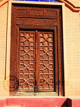 Old Wooden crafted gate