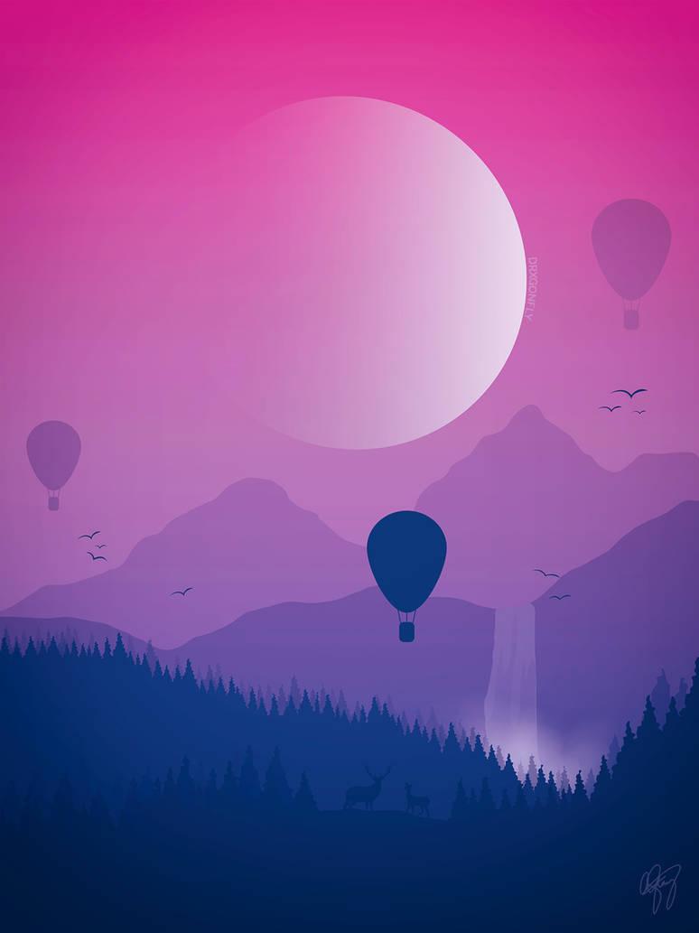 On an Adventure- Super Moon by drxgonflyart