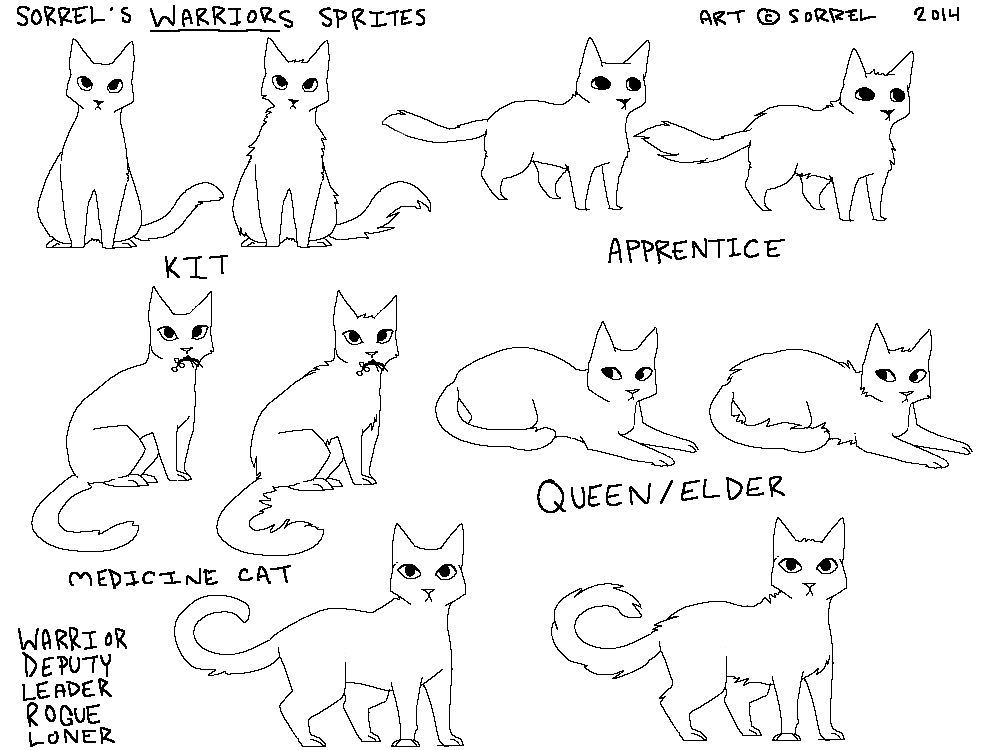 free warrior cats sprites by halesette on DeviantArt