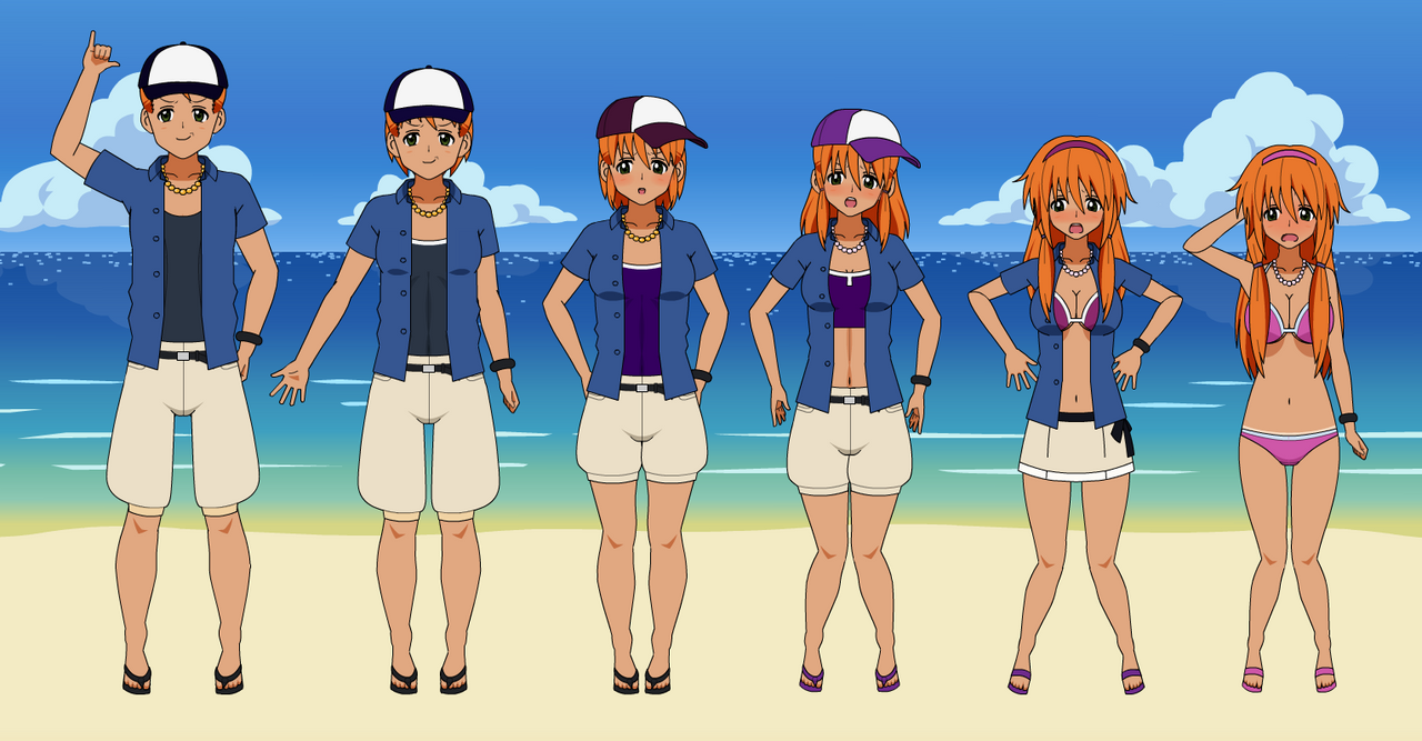 Gender transformation animation