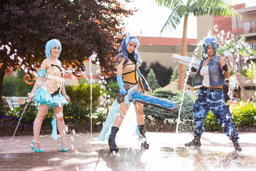 Valkyrie Squirtle Evolutions Gijinka Group