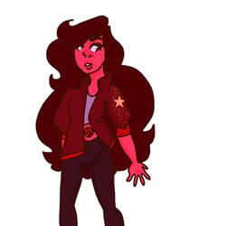 my Steven universe character red quartz by corkany2005