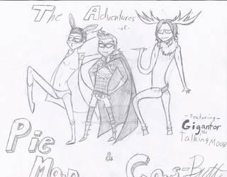 The Adventures of Pie Man and Cas-Butt ft Gigantor by were-vampiregrl98