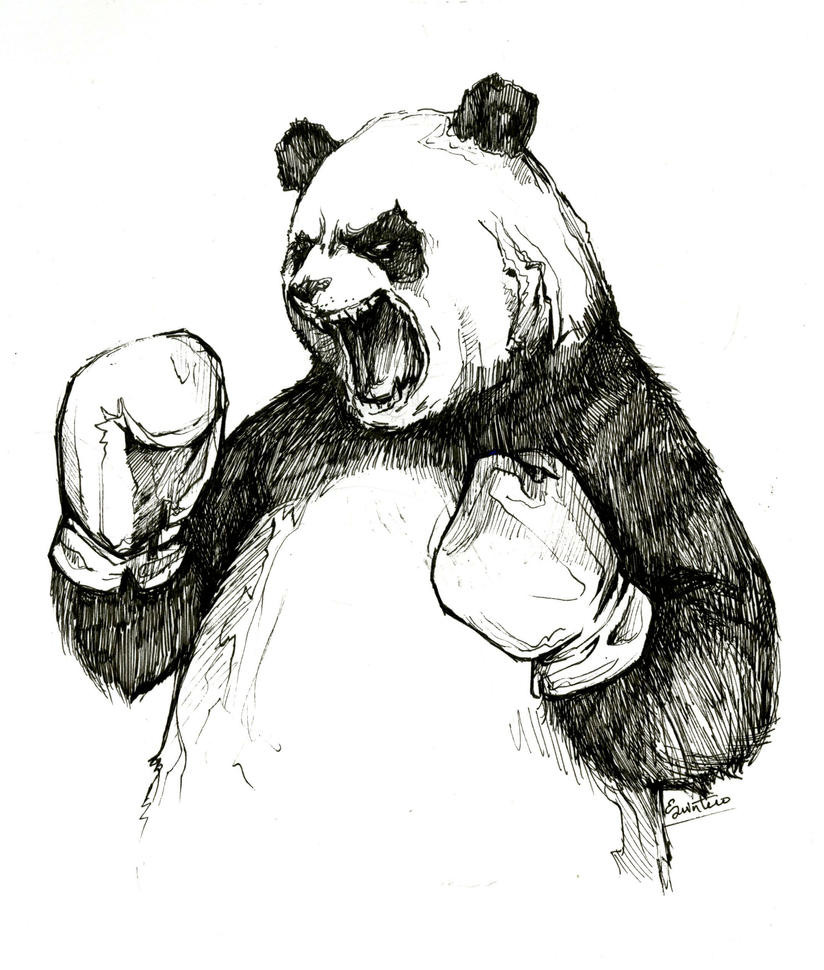 The Angry Boxing Panda By YLimes