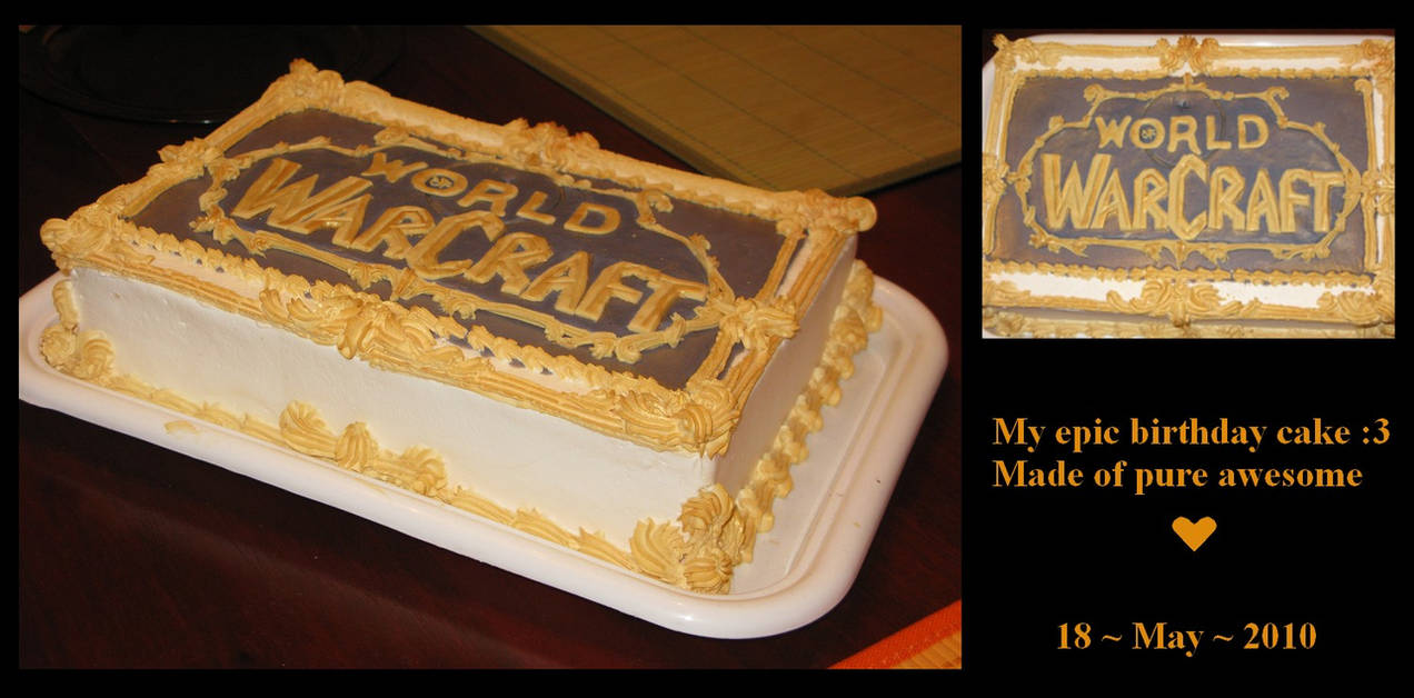 Warcraft Birthday Cake by nitagar on DeviantArt