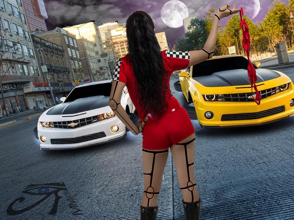 Race Car Girl Body