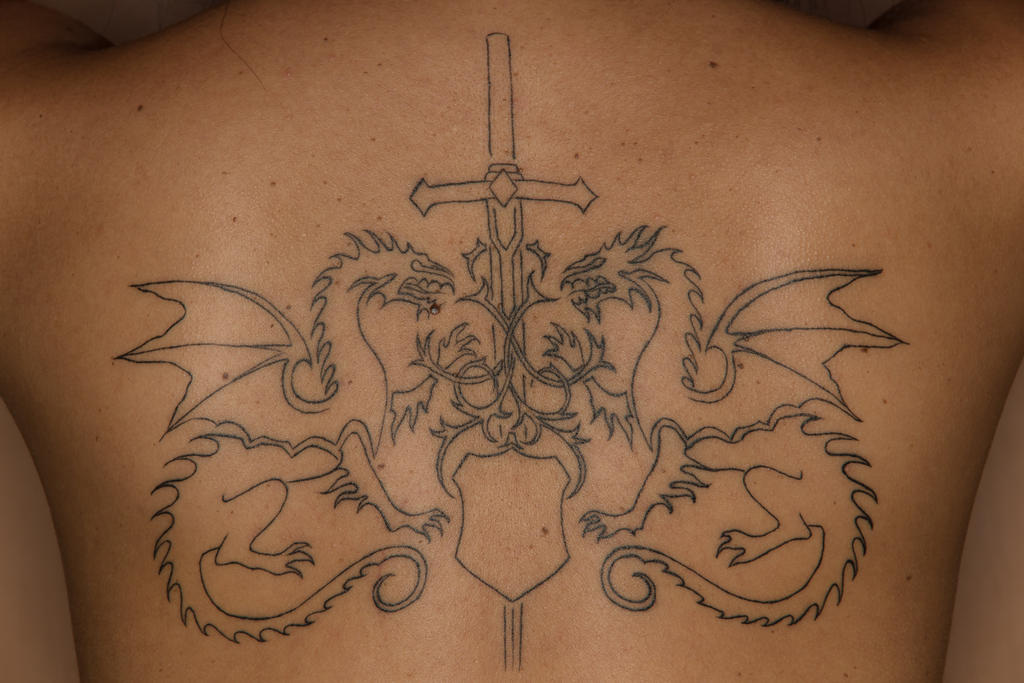 Ordo Dracul Outline Tattoo by omaroman