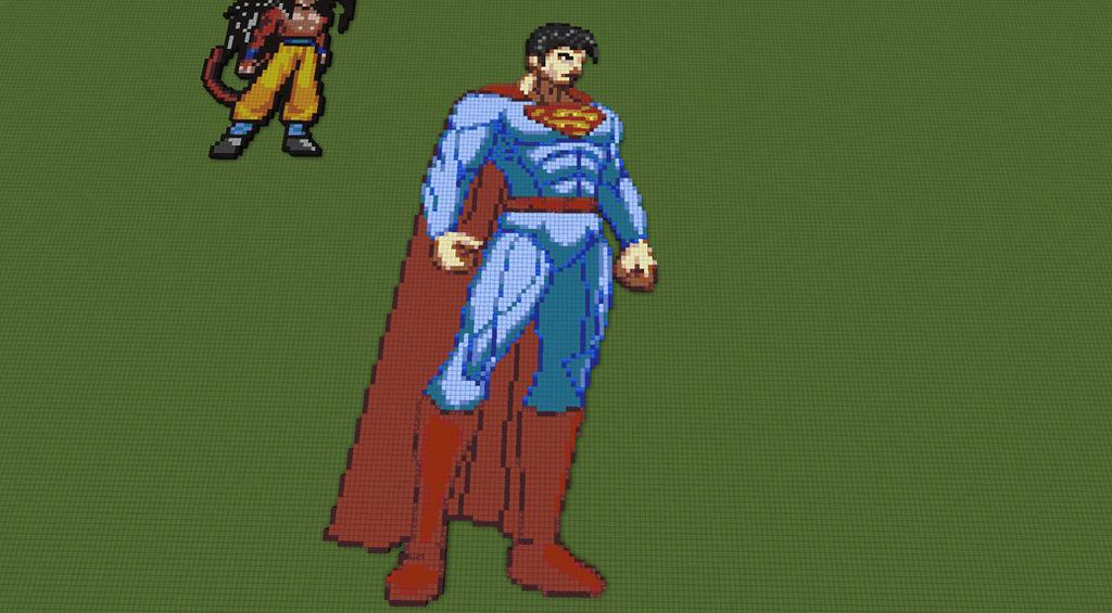 Superman Pixel Art By 8bitblublu On Deviantart