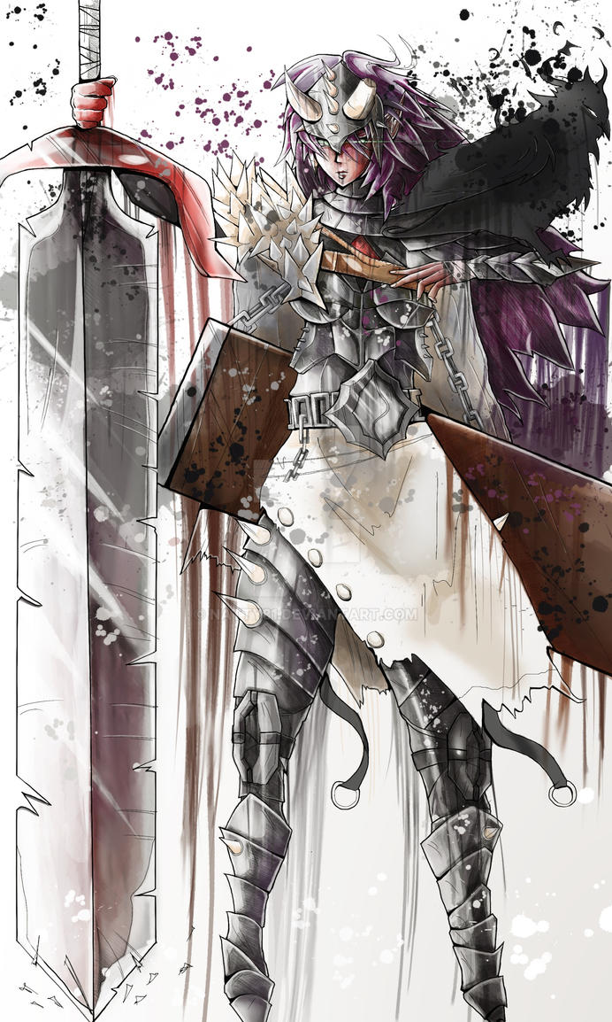 ARMOUR GIRL DRIBBLY 01 by natty81