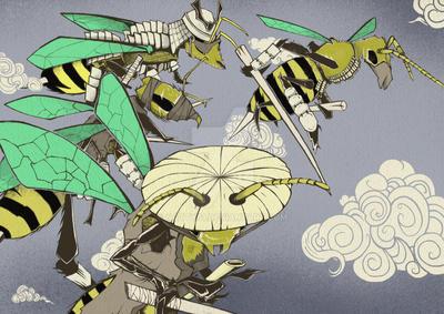 Samurai swarm by natty81