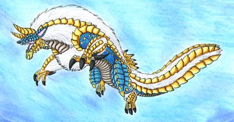 My first ever Monster Hunter Fanart: Zinogre