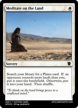 Meditate on the Land - Tarkir - Fate's Divide
