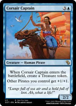 Corsair Captain  - Mercadia - Council of Masques
