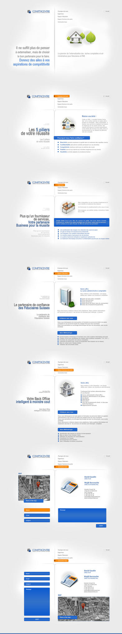 ComptaCenter Web Design by magneticlab