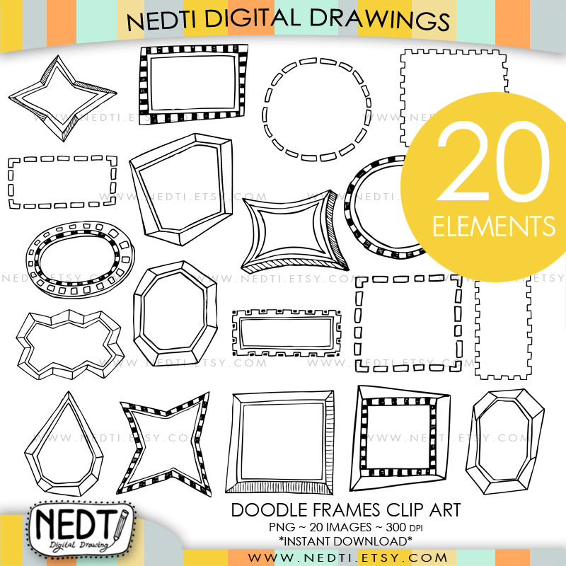 Whimsical Frames Doodle Hand Drawn by Nedti by Nedti on DeviantArt