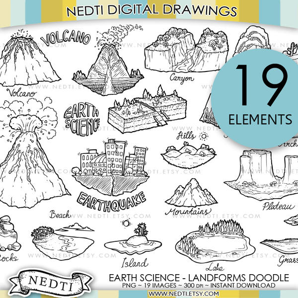 Earth Science Landforms Doodle By Nedti On DeviantArt