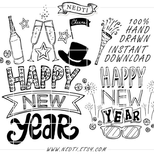 Happy New Year Doodle 34