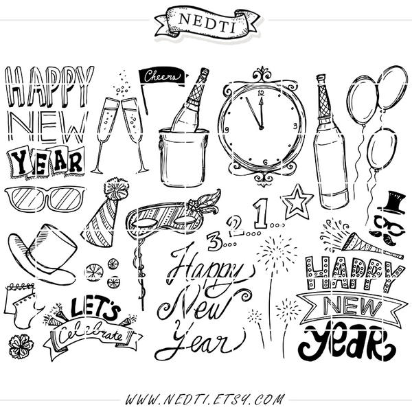 Happy New Year Doodle 45