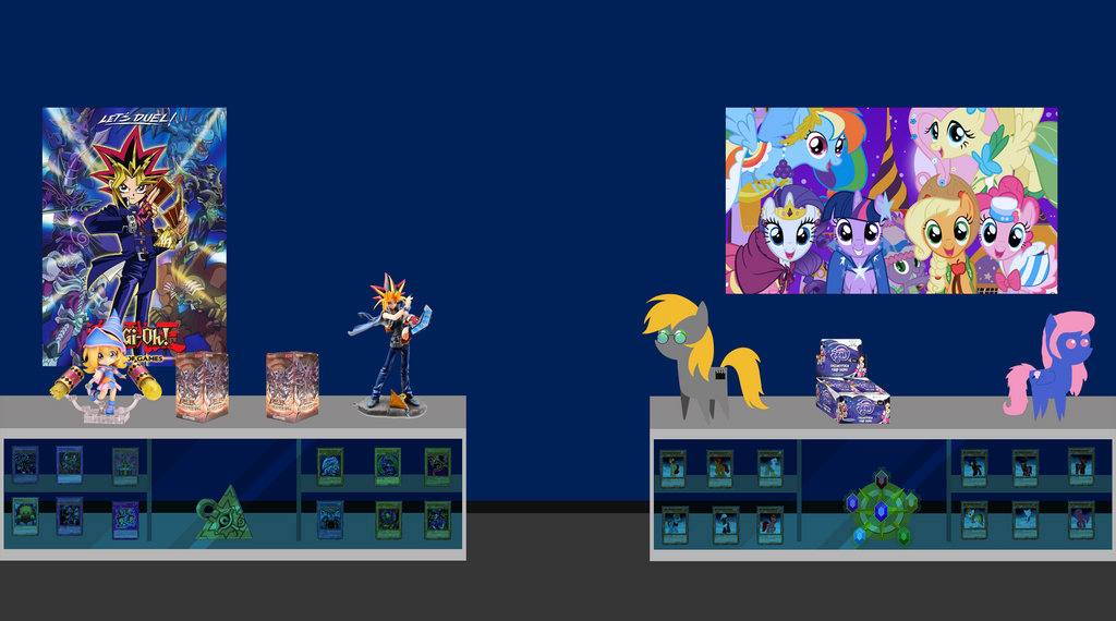 (Commission) The Yugioh Brony room by Rictor1999