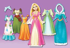 Rapunzel Doll Dresses by RinRenee