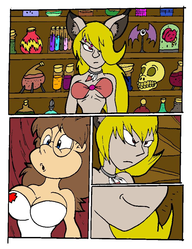 Vanessa Magic Drink pg 2 Color by ZeroConfidence