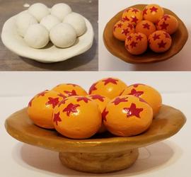 Dragon Balls Sculpture by ZeroConfidence